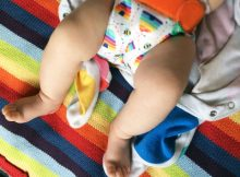 Pebble Rainbow Stripes Knitted Baby Blanket from BestYears.co.uk A Mum Reviews