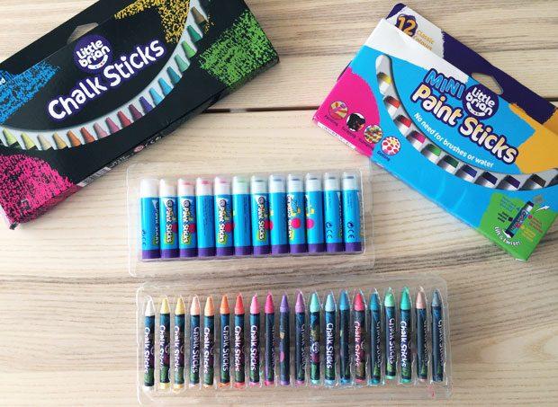 Little Brian Paint Sticks Review - Mini Paint Sticks & Chalk Sticks A Mum Reviews