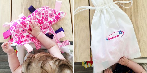 MyBlankets.com MyTaggies Review + Personalised Gift Giveaway A Mum Reviews