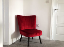 Sloane & Sons Cocktail Chair Melina Red Velvet A Mum Reviews