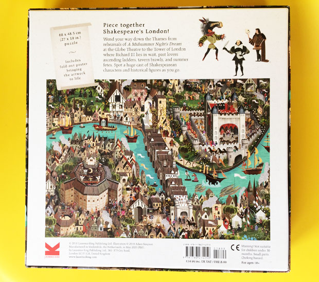 The World of Shakespeare 1000-piece Jigsaw Puzzle from LKP A Mum Reviews