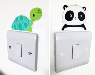Kids Light Switch Character Stickers