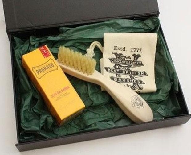 Beard Brush and Oil Gift Set