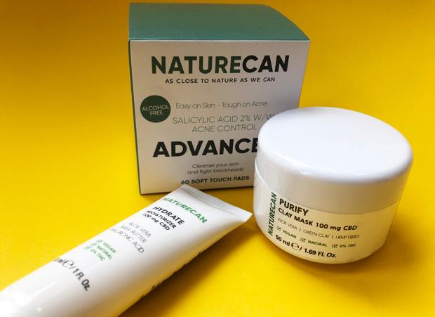 Naturecan CBD Acne Pads, Clay Mask and Daily Moisturiser Review A Mum Reviews